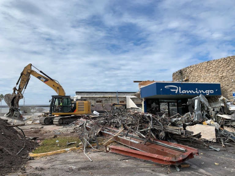 excavator st petersburg flamingo resort commercial demolition site work